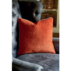 RM Vintage Velvet Pillow Cover burnt orange 50x50 / Rivièra Maison
