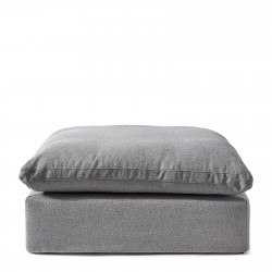 Residenza Hocker oxford weave steel grey / Rivièra Maison