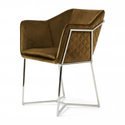 Reynolds Dining Armchair velvet windsor green / Rivièra Maison
