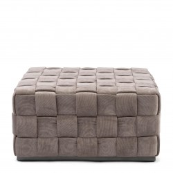 Room 48 Footstool XL fine tweed pebbles / Rivièra Maison