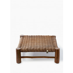 Rustic Rattan Can Bute Stool / Rivièra Maison