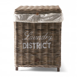 Rustic Rattan Laundry District Basket / Rivièra Maison