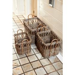 Rustic Rattan Open Weave Basket S 3 / Rivièra Maison