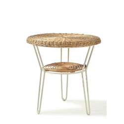 Rustic Rattan Ridge Point Wine Table / Rivièra Maison