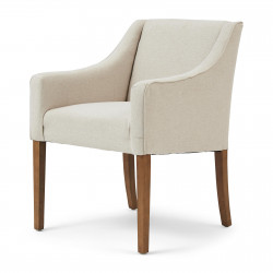 Savile Row Dining Arm Chair oxford weave flanders flax / Rivièra Maison
