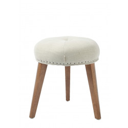 South Bank Stool polyester-linen sisal / Rivièra Maison
