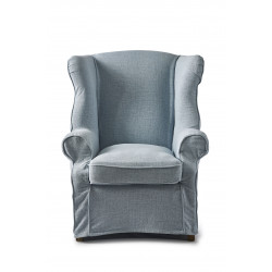 South Hampton Wing Chair linen morning sky / Rivièra Maison