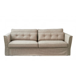 South Wimbledon Sofa 3,5 Seater washed Cotton Brown / Rivièra Maison
