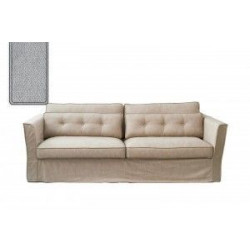 South Wimbledon Sofa 3,5 Seater, velvet, platinum / Rivièra Maison