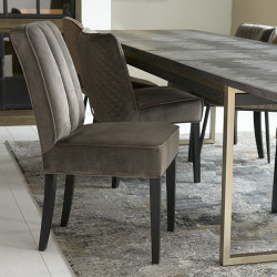 The Jade Dining Chair velvet III anthracite / Rivièra Maison