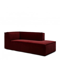 The Jagger Chaise Lounge Right velvet vineyard burgundy / Rivièra Maison