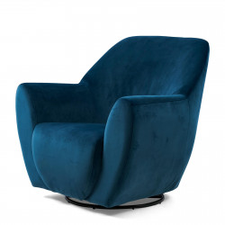 The Jill Swivel Chair velvet ocean blue / Rivièra Maison