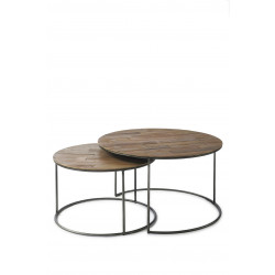 The Market Coffee Table 70 diameter Set of 2 / Rivièra Maison