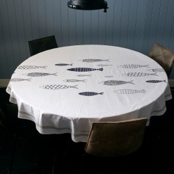 The Seafood Club Table Cloth D180 / Rivièra Maison