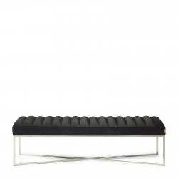 Thompson Bench velvet black / Rivièra Maison