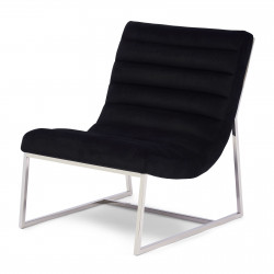 Thompson Lounge Chair velvet black / Rivièra Maison
