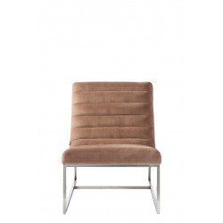 Thompson Lounge Chair, velvet, blush / Rivièra Maison