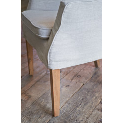 Waverly Arm Dining Chair Flax / Rivièra Maison