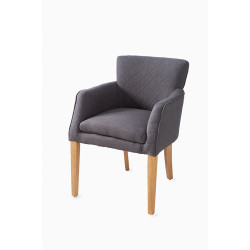 Waverly Arm Dining Chair linen Anthracite / Rivièra Maison