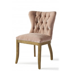 Wessex Dining Chair, velvet, pink / Rivièra Maison