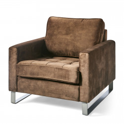 West Houston Armchair velvet chocolate / Rivièra Maison