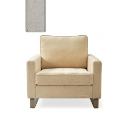 West Houston Armchair washed cotton ash grey / Rivièra Maison