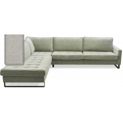 West Houston Corner Sofa Chaise Longue Left Cotton Ash Grey / Rivièra Maison
