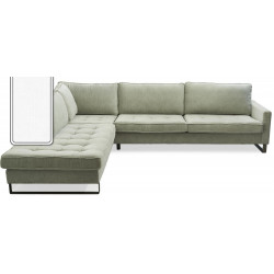 West Houston Corner Sofa Chaise Longue Left Cotton White / Rivièra Maison