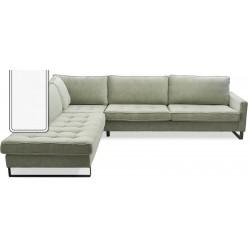 West Houston Corner Sofa Chaise Longue Left Cotton White / Rivièra Maison