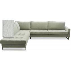 West Houston Corner Sofa Chaise Longue Left Polyster-Polyacryl Mint / Rivièra Maison