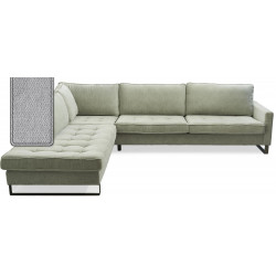 West Houston Corner Sofa Chaise Longue Left Polyster-Polyacryl Platinum / Rivièra Maison