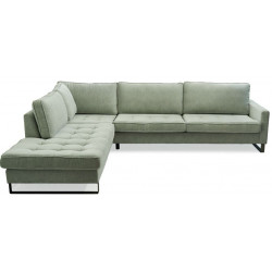 West Houston Corner Sofa Chaise Longue Left, velvet, light blue / Rivièra Maison