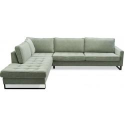 West Houston Corner Sofa Chaise Longue Left, velvet, light blue / Rivièra Maison
