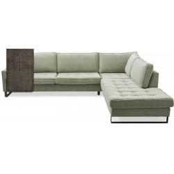 West Houston Corner Sofa Chaise Longue Right Cotton Brown / Rivièra Maison