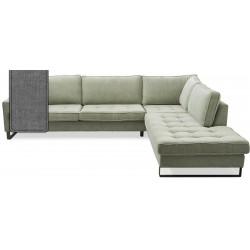 West Houston Corner Sofa Chaise Longue Right Cotton Grey / Rivièra Maison