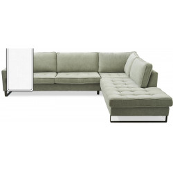 West Houston Corner Sofa Chaise Longue Right Cotton White / Rivièra Maison