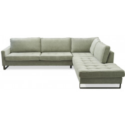 West Houston Corner Sofa Chaise Longue Right Polyster-Polyacryl Mint / Rivièra Maison