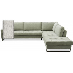 West Houston Corner Sofa Chaise Longue Right Polyster-Polyacryl Pearl / Rivièra Maison