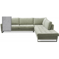West Houston Corner Sofa Chaise Longue Right Polyster-Polyacryl Platinum / Rivièra Maison