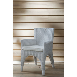 Dining Chair The Hamptons White with Pillow / Rivièra Maison-1
