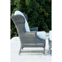 Rustic Outdoor Rattan Nicolas Wing Chair / Rivièra Maison