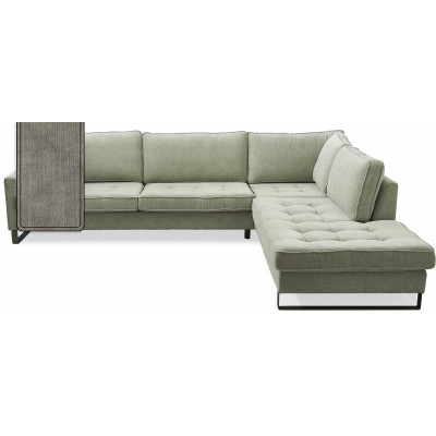 West Houston Corner Sofa Chaise Longue Right Cotton Stone / Rivièra Maison